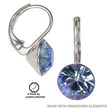 8mm Ohrringe mit Swarovski Kristall in der Farbe Saphir Hell Blau