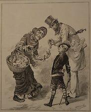 NY Daily Graphic. Not a Very Terrible Temptation. 1876.