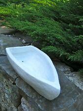 Boat Planter, Large White Painted Concrete Plant Pot, Yacht Flower Pot, Boats