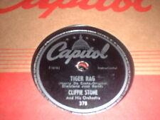 78RPM Capitol 378 Cliffie Stone, My Pretty Girl str V / Tiger Rag V