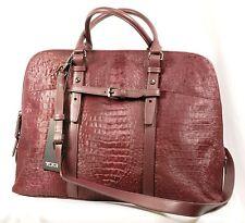 TUMI トゥミ 73219 Calf Hair Leather Nivelle Laptop Sleeve Case Business Bag Women
