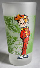 VERY RARE 2001 SPIROU DRINKING GLASS #2 TOME & JANRY 13cm HIGH ! NEW !