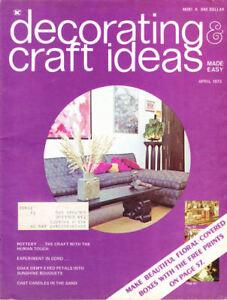 Loisirs Créatifs Livres : #1455 Décoration & Idées Avril 1973