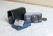 Canon PowerShot SX210 IS 14.1MP Digital Camera + Leather Case (Excellent)