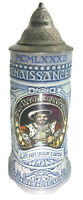 Vintage Texas Renaissance Festival Beer Stein Mug with Cover Ceramarte Brazil