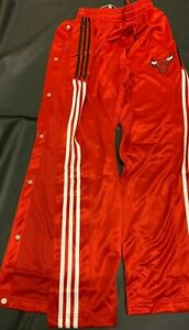 """Chicago Bulls - Official NBA Authentic Adidas """"Tear-Away"""" Pants *_* NEW!!"""