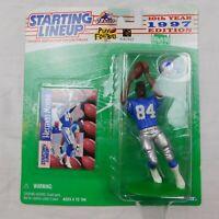 Herman Moore NFL Starting Lineup Figure & Card 1997 Detroit Lions SLU Kenner
