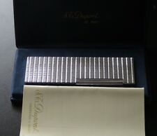 Mint Condition S T Dupont Silver Plated  Table Lighter - Comes Boxed + Booklet