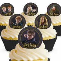 Cakeshop 12 x PRE-CUT Harry Potter Edible Cake Toppers