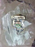Ontario Canada Shield Coat Of Arms Flag Crest Lapel Pin Travel Souvenir