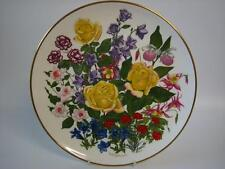 FRANKLIN PORCELAIN RHS FLOWERS OF THE YEAR LARGE PLATE FLOWERS OF JUNE