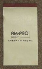 "Vintage Receipt Book ~ AM-PRO Marketing, Inc.~ 4 1/8"" x 7 1/2""~With carbon pages"