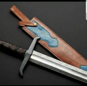 Damascus Steel Sword,wood handle.