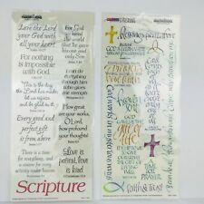 New Religious Stickers Sheet 2 Choices Phrases Scripture Faith Quotes Cross