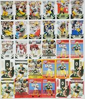2015 Score Green Bay Packers Master Team Set RC Insert All Red & Yellow Inserts