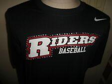 Black  Rhinestone Nike Frisco Roughriders  DriFit tshirt Women L Baseball NICE