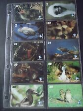 'FILHOTES' II 2001 Set of 10 Different Phone Cards from Brazil