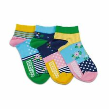 United Oddsocks Flower UK 4-8 Pair With A Spare Woman Set Of 3 Odd Liner Socks
