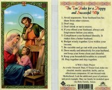 Holy Cards eBay - The Ten Rules for a Happy and Successful Wife HC9-469E