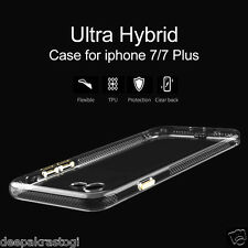 0.2mm Soft TPU Cover Case Unique Metal Buttons With Dust Plug For iphone 7