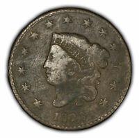 1826 1c Coronet Head Large Cent - VF Detail - SKU-Y2358