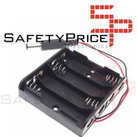 Portapilas Battery holder 4xAA Porta 4 Pilas LR06 AA conector DC Arduino SP