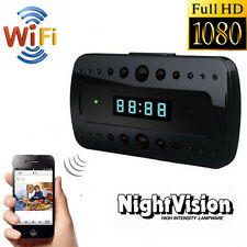 Mini 1080P WIFI HD Hidden Spy Camera Clock Night Vision Video Recorder Nanny Cam
