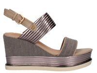WRANGLER CLIPPER JEENA scarpe sandali donna pelle tessuto zeppa plateau tacco