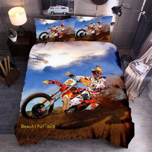 Motorbike Single Double Queen King Bed Duvet Quilt Doona Cover Set Linen