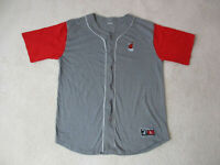 VINTAGE Miami Heat Baseball Jersey Adult Extra Large Gray Red Basketball Men 90s
