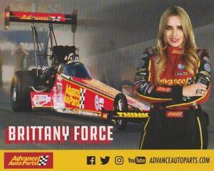 2019 Brittany Force Advance Auto Parts Top Fuel NHRA postcard