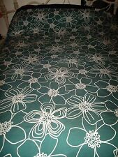 Ikea Hanna Blom Full/Queen Flora Snap Close Duvet Cover teal Green White Floral