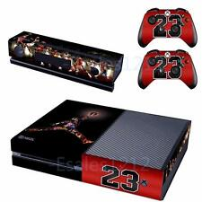 Legend Jordan MJ Vinyl Skin Decals Sticker Xbox One Console Kinect Controllers