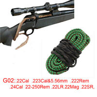 G02 Bore Snake .22Cal .223Cal 5.56mm .222Rem .24Cal 22-250Rem .22LR .22Mag .22SR