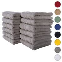 NEW GRAY Color ULTRA SUPER SOFT LUXURY PURE TURKISH 100% COTTON HAND TOWELS