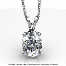 0.35 Carat G VS2 Oval Shape Diamond Pendant in 14K Gold
