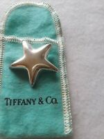 Vintage Signed Tiffany & Co. Sterling Silver STAR Pin or Brooch Mexico 925
