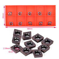 10x CCMT09T304 CCMT32.5 Carbide Inserts For SCLCR Lathe Turning Boring Tool CAO