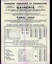 """LA VARENNE-SAINT-HILAIRE (94) ETUIS pour ORFEVRERIE """"COMPTOIR de la GAINERIE"""""""