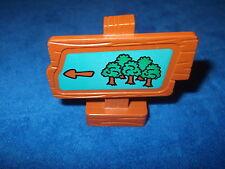 Lego Duplo Winnie Pooh Schild Wald Motiv Braun Grün Bäume
