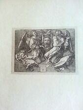 Durer woodcut 6x4.5 1513 plate signed B 25 Sudarium held by two angels