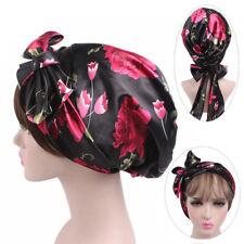 Hair Care Women's Fashion Satin Bonnet Cap Night Sleep Hat Silk Cap Head Wrap