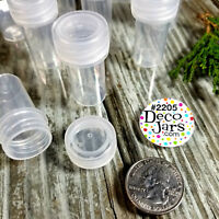 12 Tiny Tubes Vial Pills Container Mining Powder Herbs Geocache K2205  DecoJars