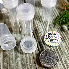 12 Tiny Tubes Vial Pills Container Mining Powder Herbs Geocache K2205  DecoJars