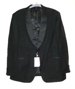 Alexander Dobell 1 Button Luxury Black Tuxedo Jacket Pure Wool 42S SALEx UU 09