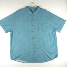 Campia Shirt XXL 2XL Mens Short Sleeve Button Up Blue w/ Floral Print Bowling