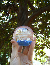 "Handmade Selkirk Paperweight ""Goldmist"" from molten glass Made in Scotland"