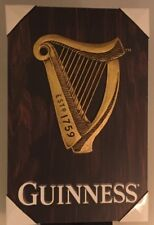 Wooden Guinness Logo Sign Man Cave Beer Memorabilia