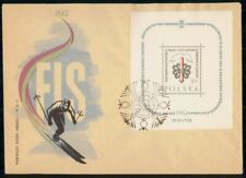 Mayfairstamps Poland 1962 Souvenir Sheet Skiing first Day Cover wwf98945