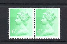 6p FCP/PVAD MACHIN UNMOUNTED MINT PAIR + BLIND PERFORATION
